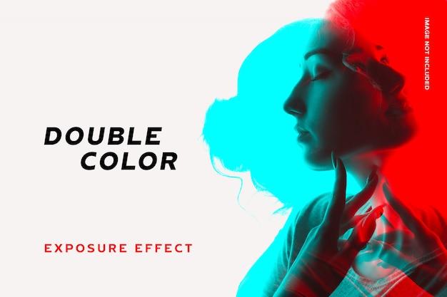 Doppio effetto di esposizione a colori Psd Premium