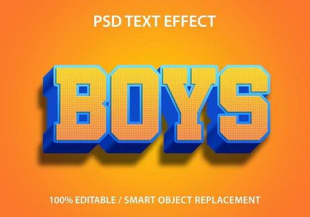 Ragazzi con effetti di testo modificabili Psd Premium
