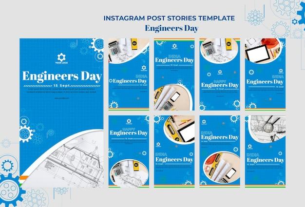 Storie di instagram del giorno degli ingegneri Psd Premium