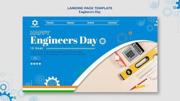 Pagina di destinazione del giorno degli ingegneri Psd Premium