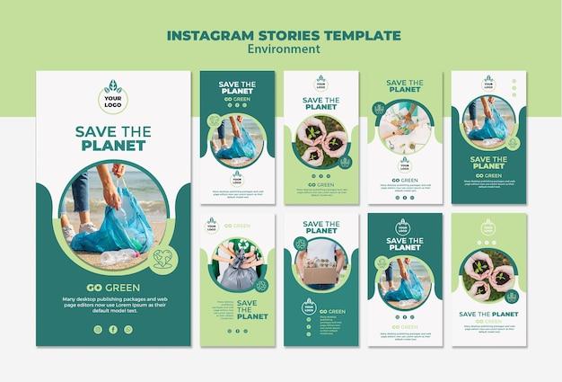 Modello di modello di storie di instagram di ambiente Psd Premium