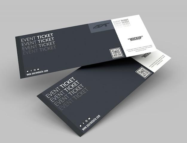 Mockup di biglietti per eventi Psd Premium