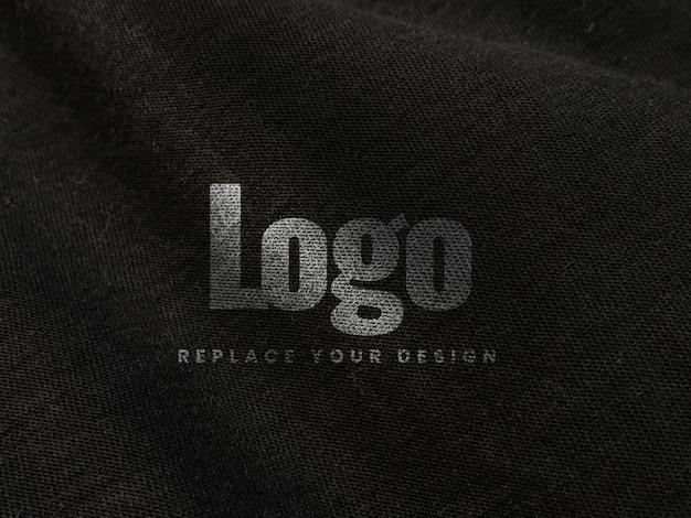 Tessuto tela stampa schermo logo mockup realistico Psd Premium