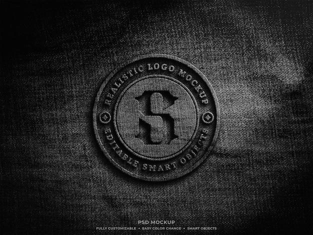 Design mockup con logo in rilievo in tessuto Psd Premium