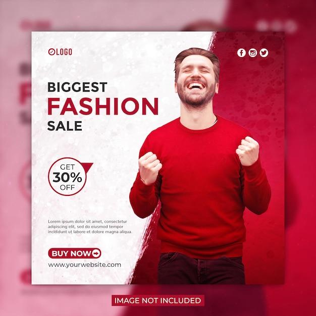 Modello di banner post o instagram di social media di vendita di moda Psd Premium