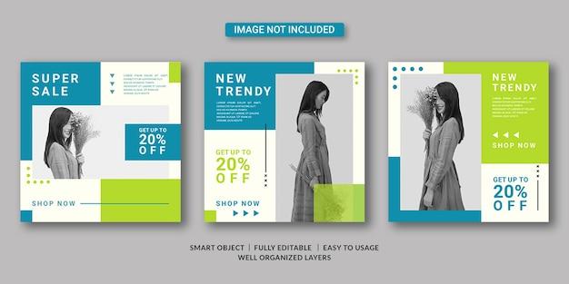 Modello di post sui social media di moda Psd Premium