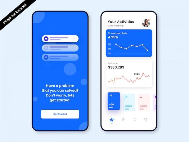 Finanza dashboard app ui design Psd Premium