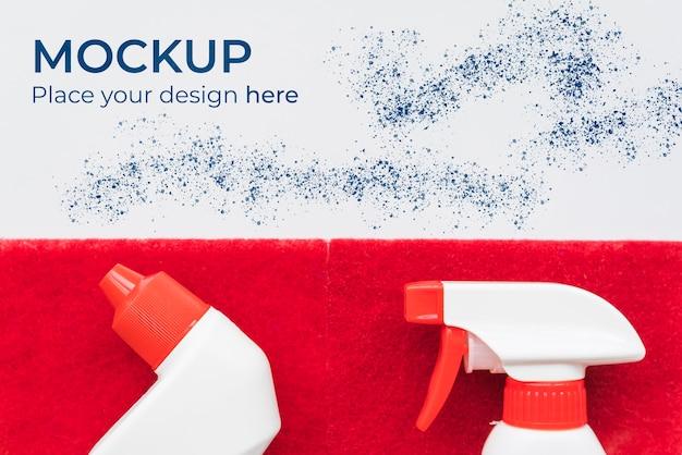 Mock-up di flacone detergente piatto Psd Premium