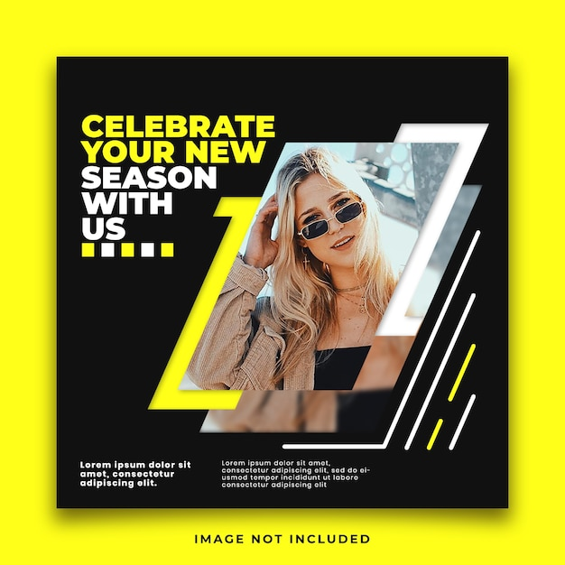 Flyer square social media feed poster modello instagram Psd Premium