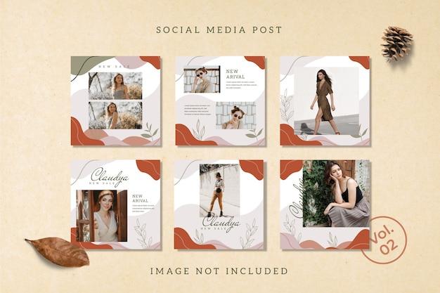 Flyer square social media feed poster modello instagram Psd Premium