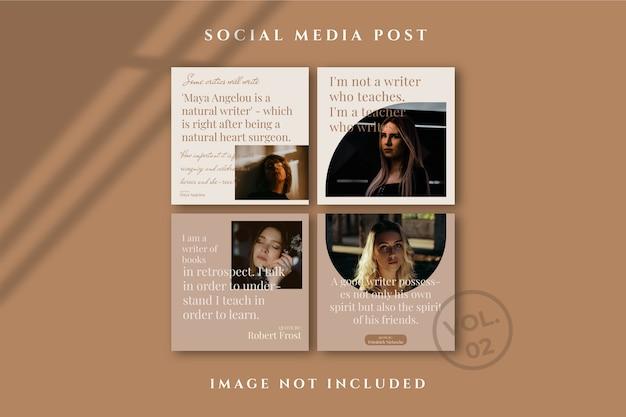 Flyer square social media feed poster instagram Psd Premium