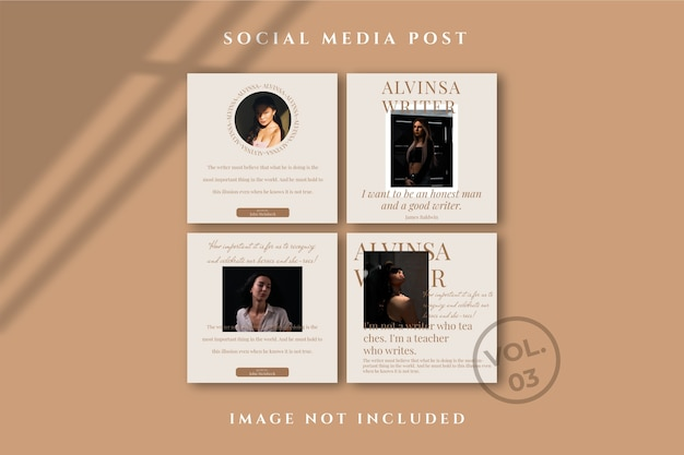 Flyer square social media feed poster instagram Psd Premium