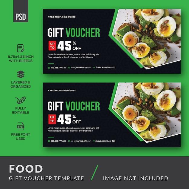 Modello di carta del buono regalo alimentare Psd Premium