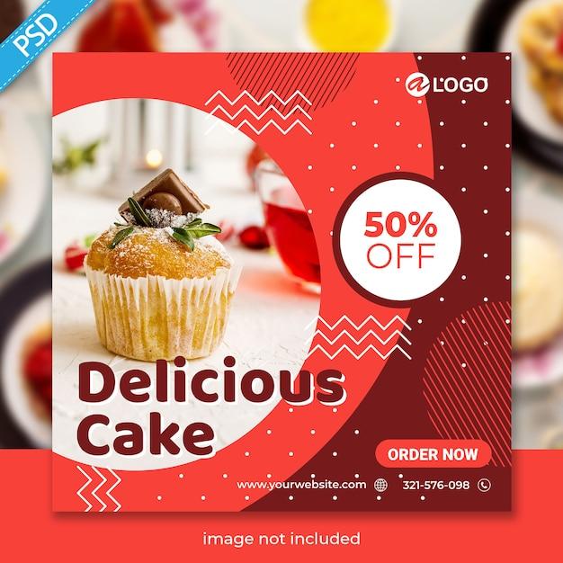 Modello di banner di cibo per social media instagram post premium Psd Premium