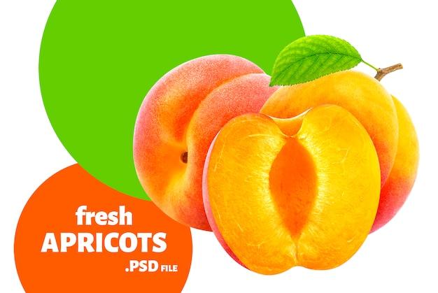 Frutti di albicocca freschi Psd Premium