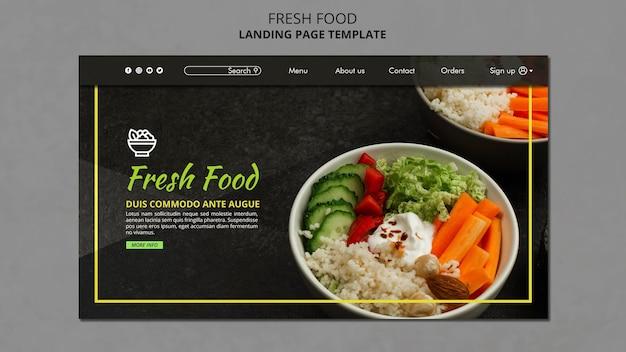 Modello di pagina di destinazione del cibo fresco Psd Premium
