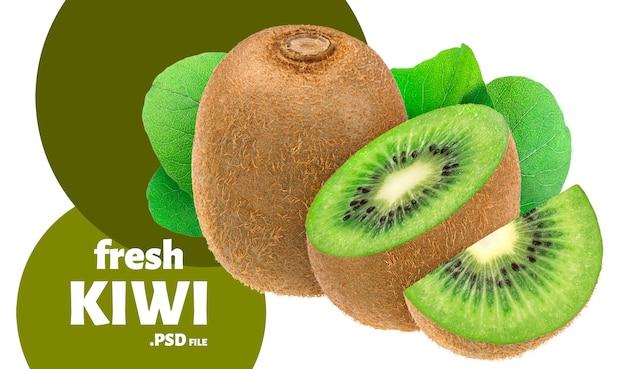 Design di kiwi freschi per l'imballaggio Psd Premium