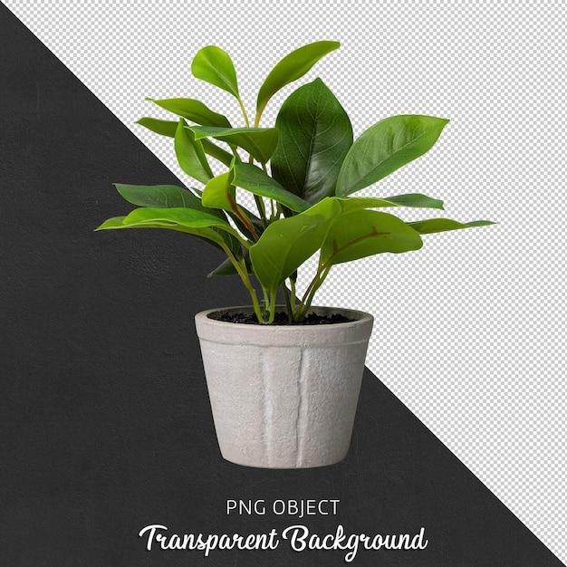 Vista frontale di fiori artificiali in vaso Psd Premium