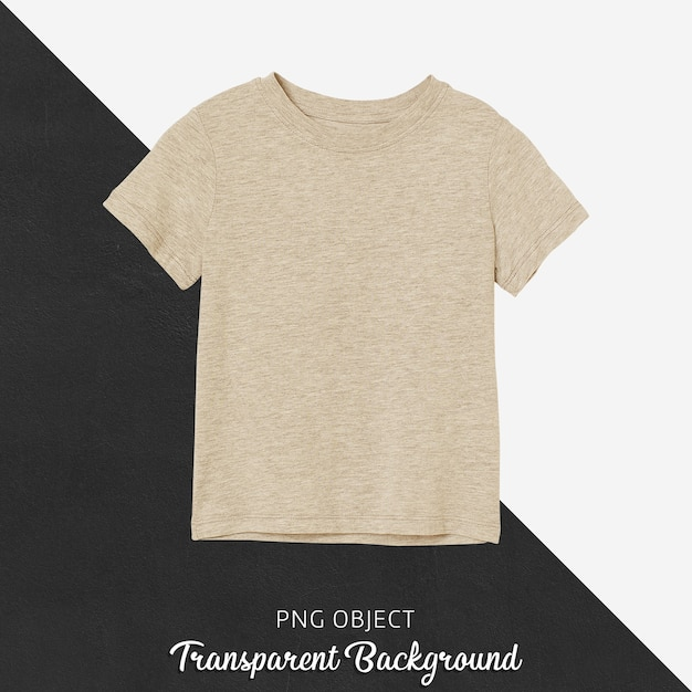 Vista frontale del mockup di tshirt bambini basic beige Psd Premium