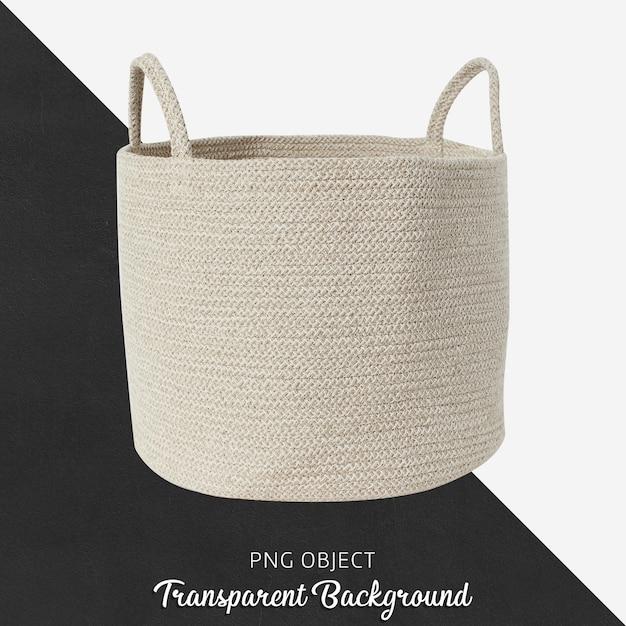 Vista frontale del mockup cestino beige Psd Premium