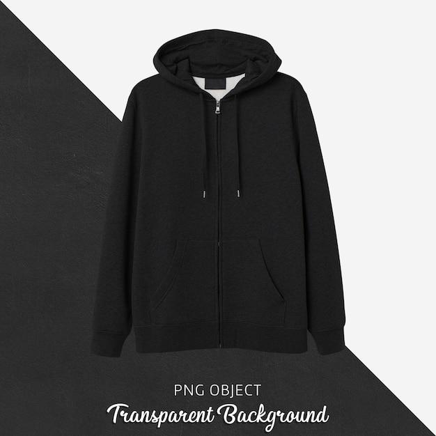 Vista frontale del mockup di felpa con cappuccio nera Psd Premium