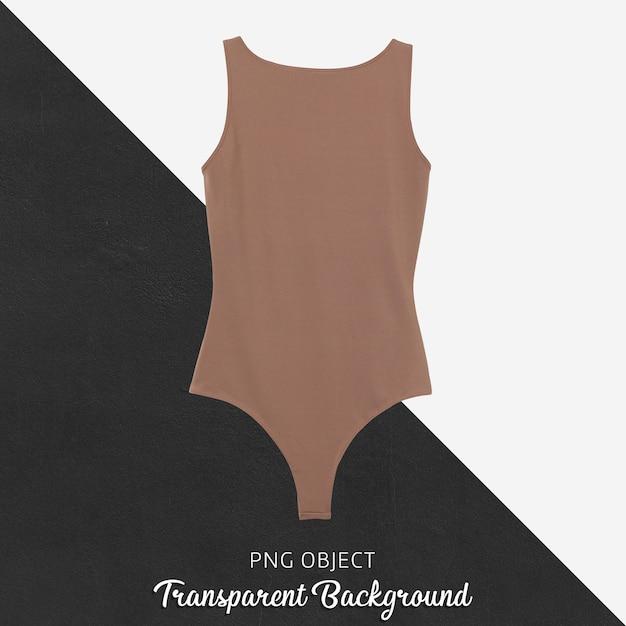 Vista frontale del mockup di tuta marrone Psd Premium