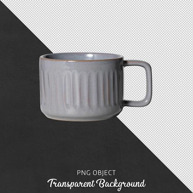 Vista frontale della tazza da caffè isolata o tazza da caffè Psd Premium