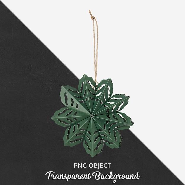 Vista frontale del mockup di ornamento di natale verde Psd Premium
