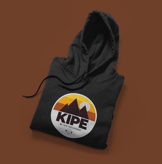 Vista frontale del mockup di felpa con cappuccio isolato Psd Premium