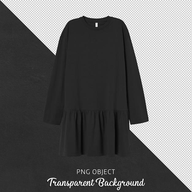 Vista frontale della donna vestito nero isolato Psd Premium