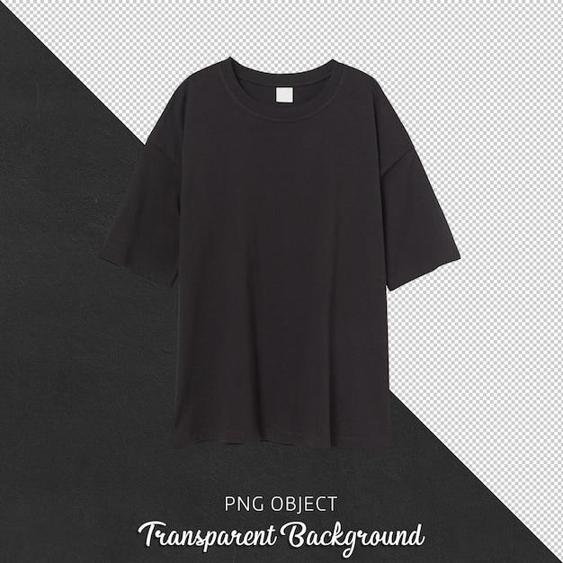 Vista frontale della maglietta nera della donna Psd Premium