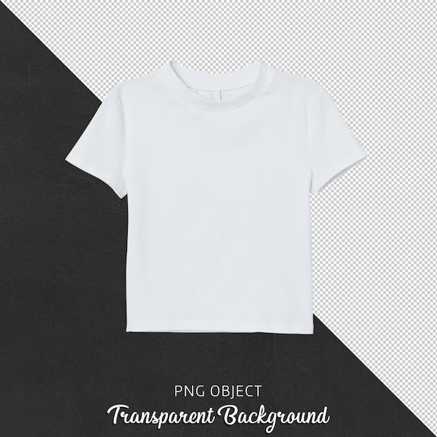 Vista frontale della maglietta bianca del raccolto della donna Psd Premium