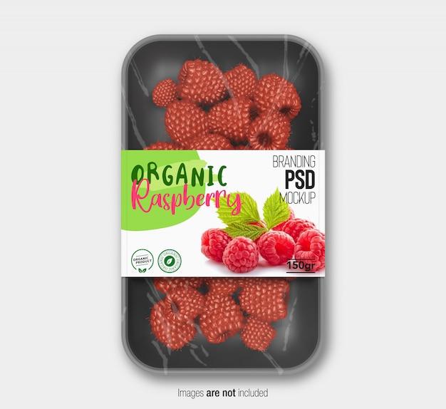 Mockup di confezionamento di frutta Psd Premium