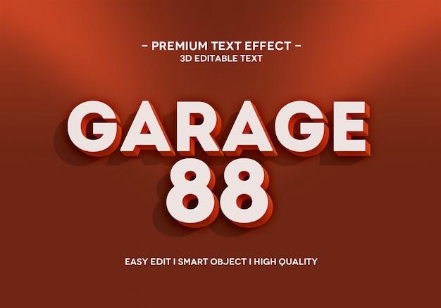 Modello di stile effetto testo garage 88 Psd Premium