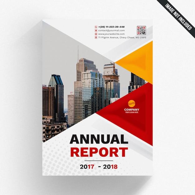 Mockup di rapporto annuale geometrico Psd Premium