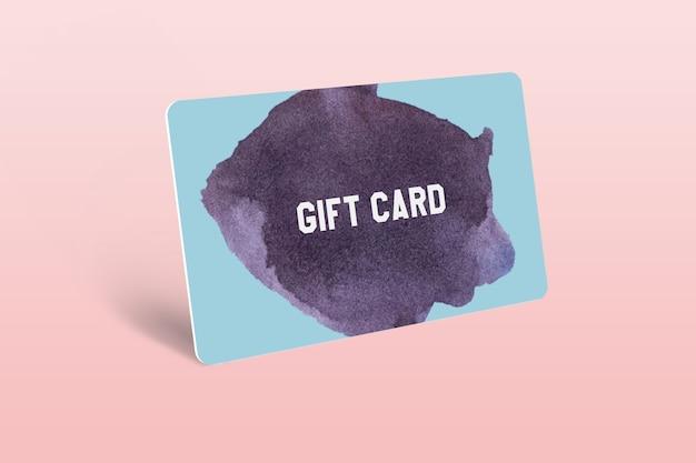 Gift card mockup template design Psd Premium