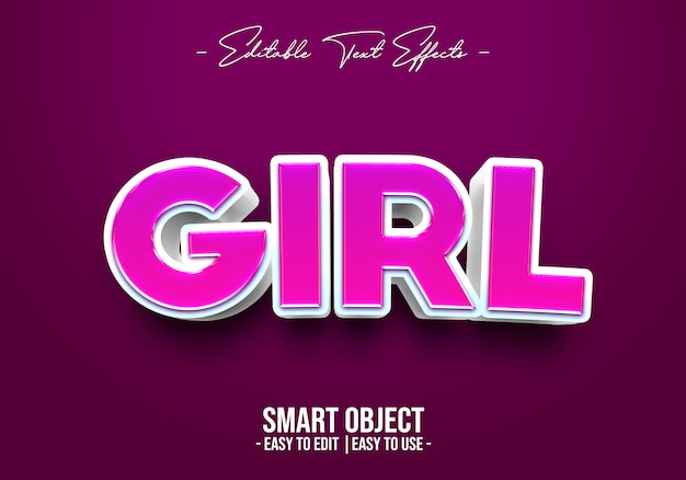 Girl style style effect Psd Premium