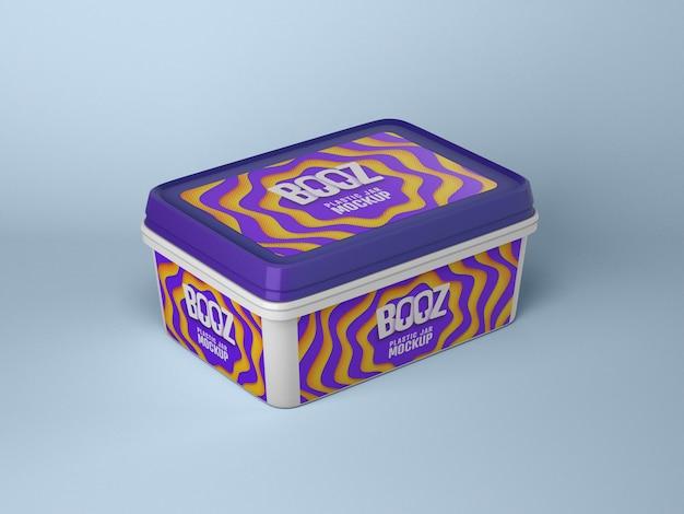 Mockup di scatola di gelato lucido Psd Premium