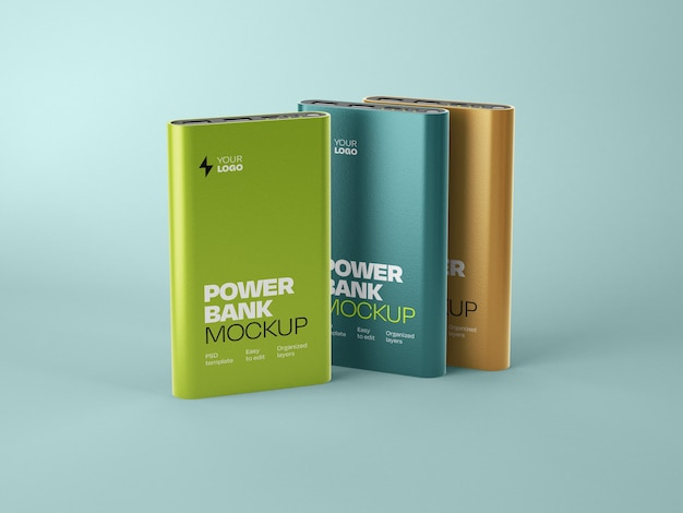 Mockup lucido della banca di potere Psd Premium