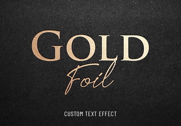 Effetto testo hotprint foglia oro Psd Premium