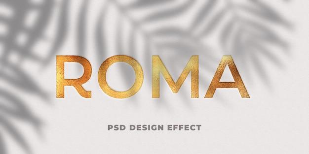 Mockup di effetto testo in lamina d'oro Psd Premium