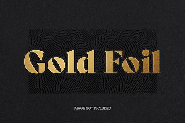 Modello di effetto testo in lamina d'oro Psd Premium