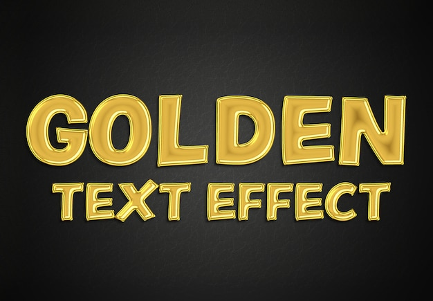 Mockup stile effetto testo oro Psd Premium