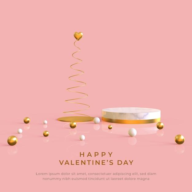 Buon san valentino banner Psd Premium