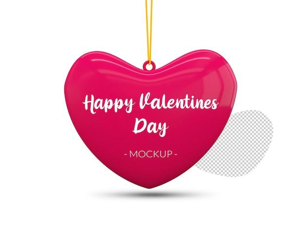 Buon mockup di cuore di san valentino Psd Premium