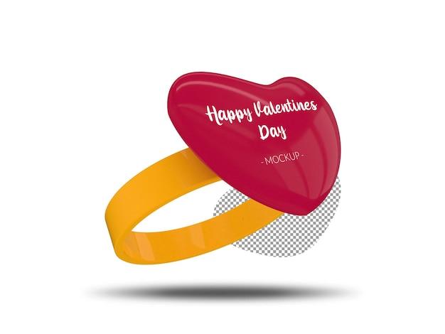 Buon mockup di anello di san valentino Psd Premium