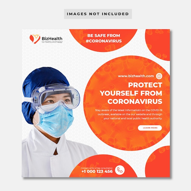 Banner sanitario sul coronavirus Psd Premium
