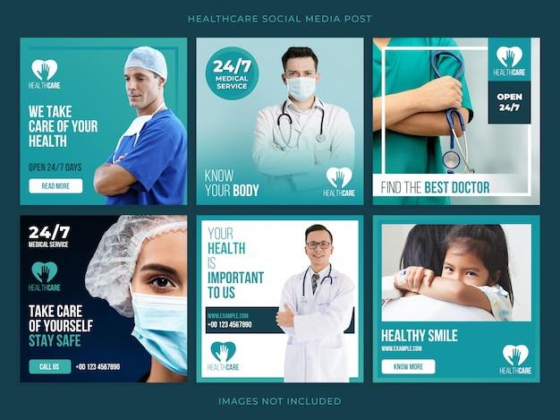 Set di banner sanitari Psd Premium