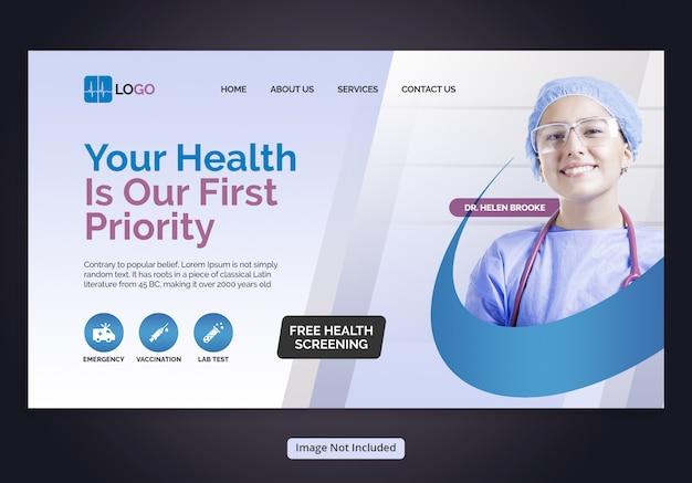 Pagina di destinazione dell'assistenza sanitaria Psd Premium
