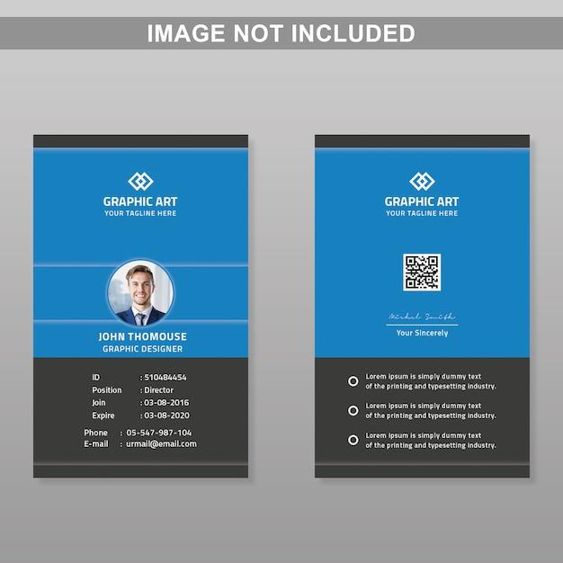 Modello di carta d'identità Psd Premium